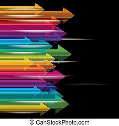 moving colorful transparent arrows