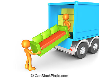 Moving Company - Computer generated image - Moving Company .