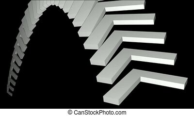 moving corner conveyor belt & stair