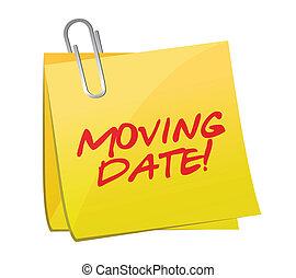 moving date post illustration design