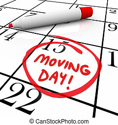 Moving Day Circled Calendar Important Date Reminder