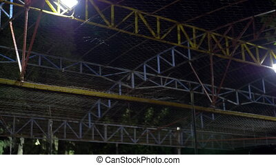 Moving electric bumper cars in amusement park - Electricity...