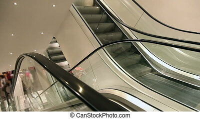 Moving elevator in mall