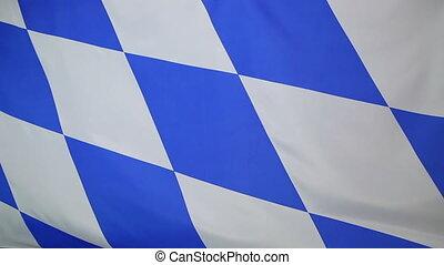 Moving flag of Bavaria, Germany