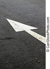 Moving forward arrow sign on the floor