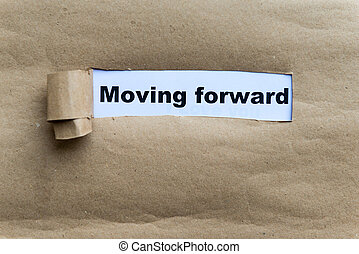 moving forward word on the white background