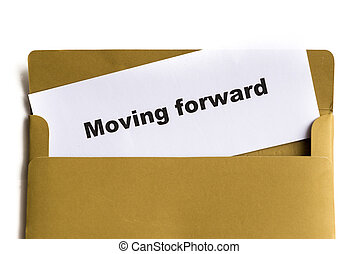 moving forward words in the envelope