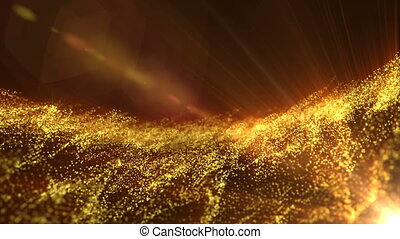 Moving gold particles able to loop