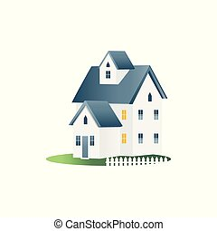 Moving house icon for the real estate market flat vector illustration isolated.