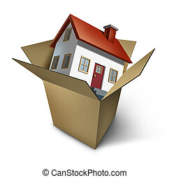 Moving House - Moving house and move day with a model home...