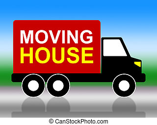 Moving House Shows Change Of Address And Delivery - Moving...
