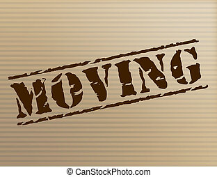 Moving House Shows Change Of Residence And Apartment -...