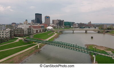 Moving into the Riverfront City Center Downtown of Dayton...