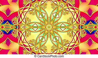 Moving kaleidoscope in various colors