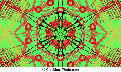 moving kaleidoscope of different shape