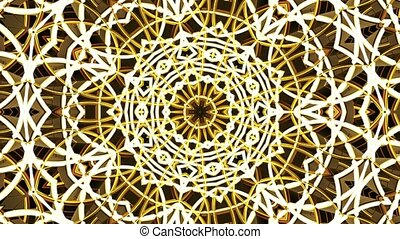 Moving kaleidoscope with dominating brown color