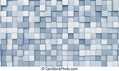 Moving light blue squares