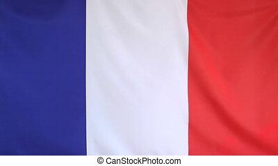 Moving national flag of France
