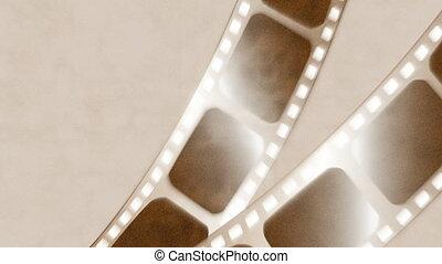 Moving old film strip