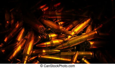 Moving Over Ammo In Fire - Passing rows of ammunition...