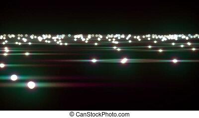 Moving over light spots lens flare - Moving over light spots...