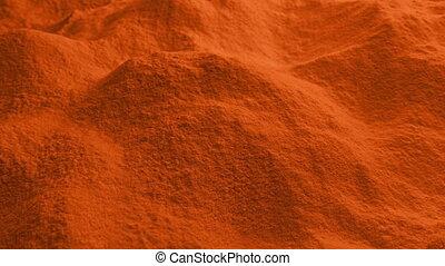 Moving Over Paprika Spice Powder - Slider shot moving over ...