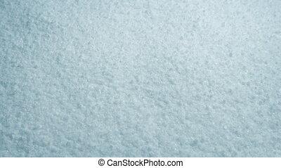 Moving Over Salt Macro Shot - Tracking shot moving slowly...