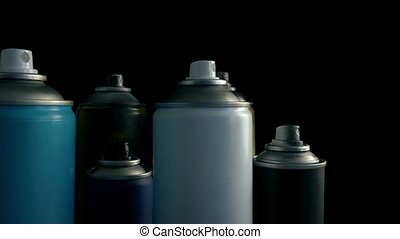 Moving Past Spray Cans - Slowly moving past spraycans, could...
