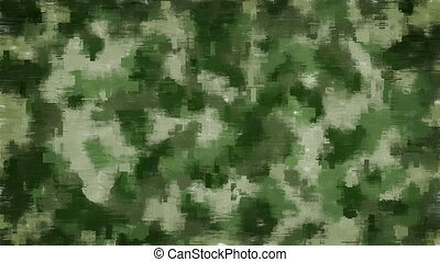 Moving pixel camouflage background - Animated blurred pixels...