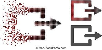 Moving Pixel Halftone Exit Icon