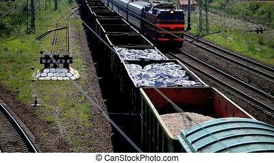 railroad cars - moving railroad cars