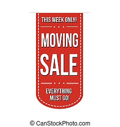 Moving sale banner design