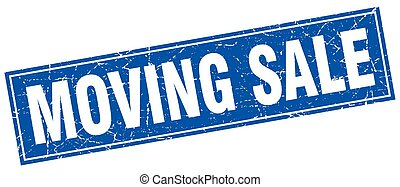 moving sale square stamp