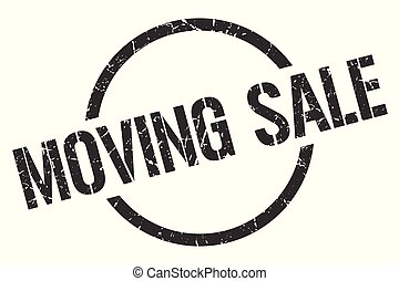 moving sale stamp - moving sale black round stamp