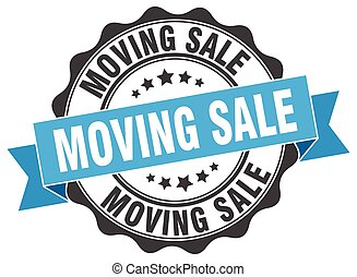 moving sale stamp. sign. seal