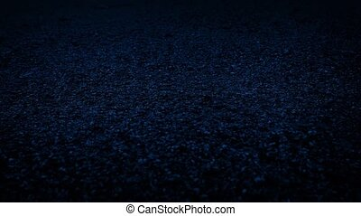 Moving Slowly Over Gravel Surface At Night - Dolly shot...