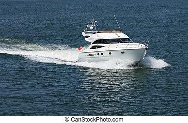 speedboat - moving speedboat