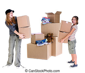 Moving - The joys of moving from one place to another. Two...
