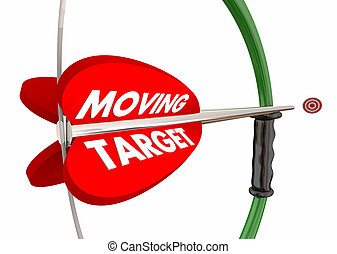 Moving Target Bow Arrow Changing Goals Requirements 3d Illustration