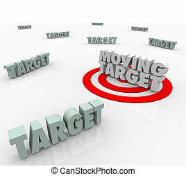 Moving Target Changing Plan Strategy Find Elusive Location -...