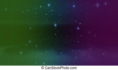 Moving through a starry sky - Digital animation of moving ...