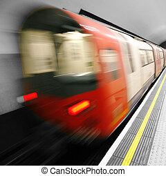 Moving train