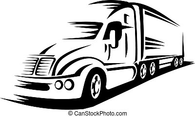 Moving truck - Moving delivery truck on road for ...