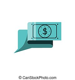 mowa, symbol, bańka, dolar