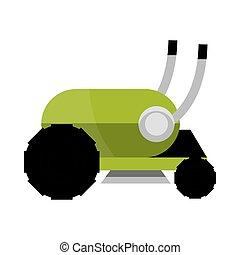 mower grass garden machine icon isolated on white background