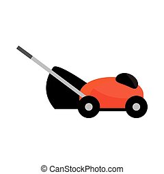 mower grass object isolated on white background vector ...