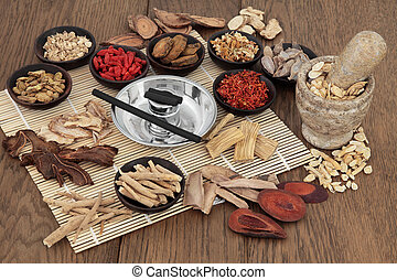 Moxa Sticks and Chinese Herbs