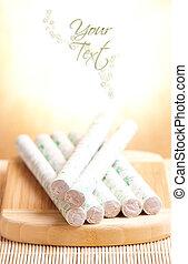 Moxa sticks copy space vert - Professional moxa sticks with...