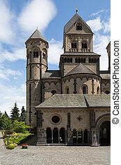 moyen-âge, abbaye, bénédictin, laach, allemagne, maria