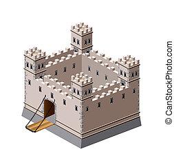 moyen-âge, forteresse